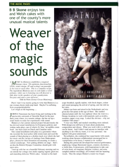 Pembrokeshire Life Magazine article, March 2011 issue