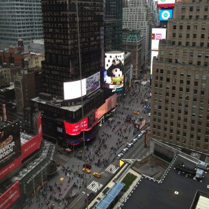 Times Square Marriott Hotel view